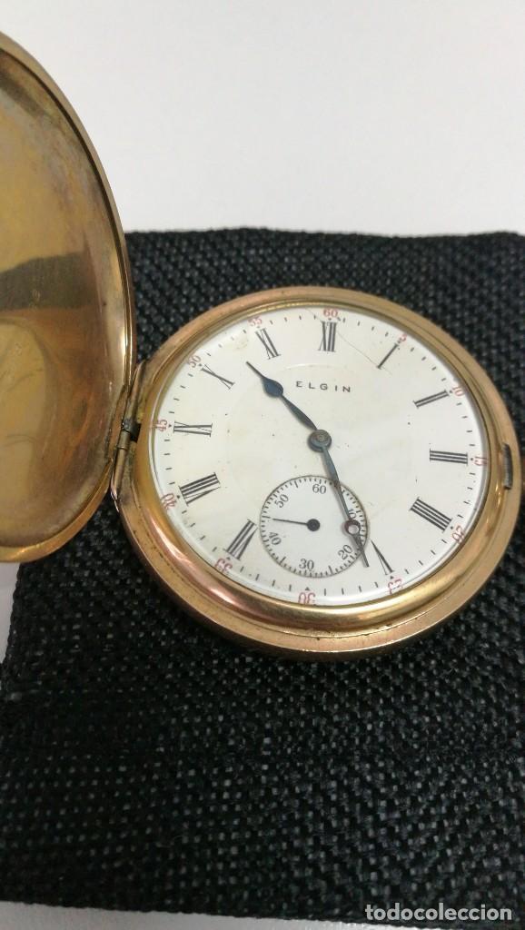 Relojes de bolsillo: RELOJ ELGIN U.S.A. - 3 TAPAS. FUNCIONANDO - Foto 8 - 146521570