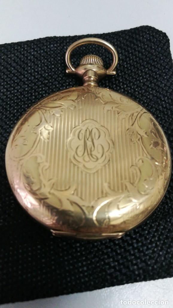 Relojes de bolsillo: RELOJ ELGIN U.S.A. - 3 TAPAS. FUNCIONANDO - Foto 9 - 146521570