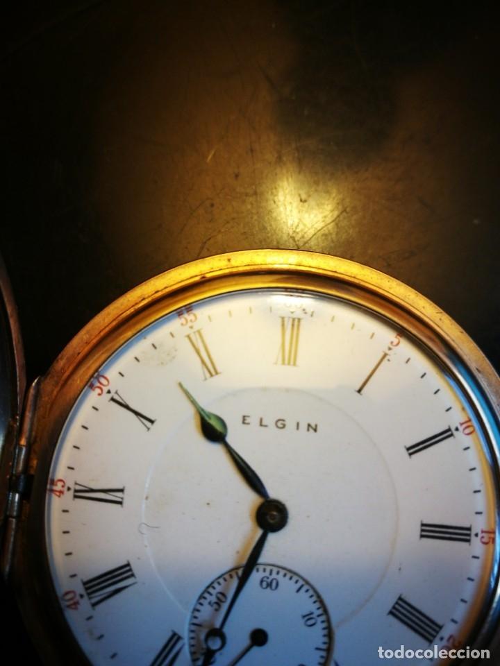 Relojes de bolsillo: RELOJ ELGIN U.S.A. - 3 TAPAS. FUNCIONANDO - Foto 10 - 146521570