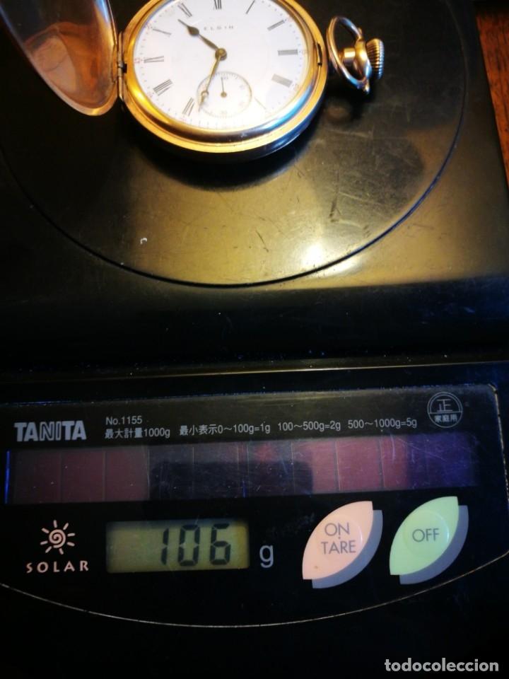 Relojes de bolsillo: RELOJ ELGIN U.S.A. - 3 TAPAS. FUNCIONANDO - Foto 11 - 146521570