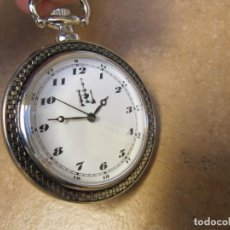 Relojes de bolsillo: RELOJ DE BOLSILLO CON MECANISMO CON SISTEMA BOBINADO. Lote 146581662