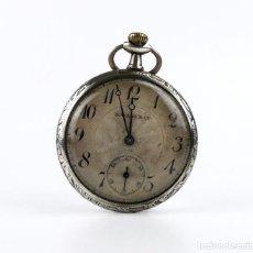 Relojes de bolsillo: G.WAHL & CO,SUIZA - RELOJ DE BOLSILLO CARGA MANUAL A CUERDA- CAJA DE PLATA CINCELADA- CA.1890. Lote 146588682