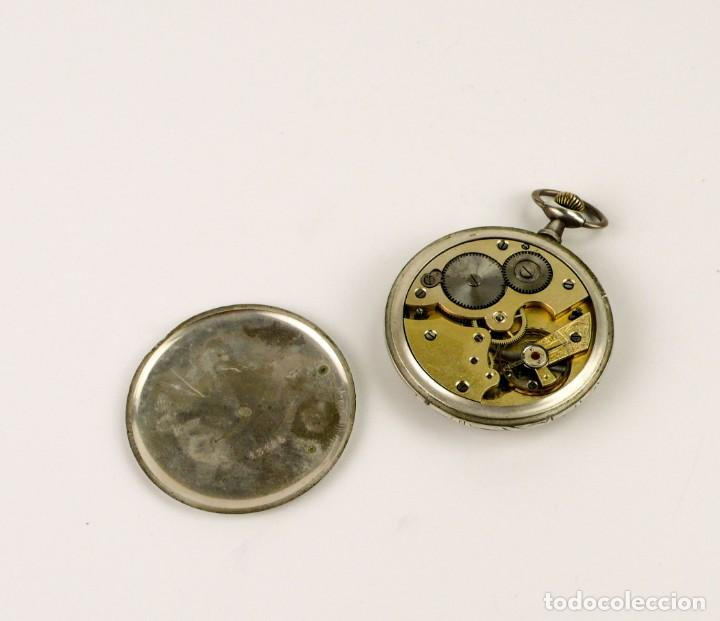 Relojes de bolsillo: G.Wahl & Co,Suiza - Reloj de bolsillo carga manual a cuerda- caja de plata cincelada- Ca.1890 - Foto 9 - 146588682