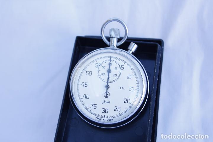 CRONOMETRO TIPO RELOJ DE BOLSILLO CARGA MANUAL - AGAT - MADE IN USSR (Relojes - Bolsillo Carga Manual)