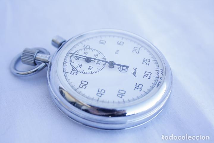 Relojes de bolsillo: Cronometro tipo Reloj de bolsillo carga manual - AGAT - Made in USSR - Foto 2 - 146645246