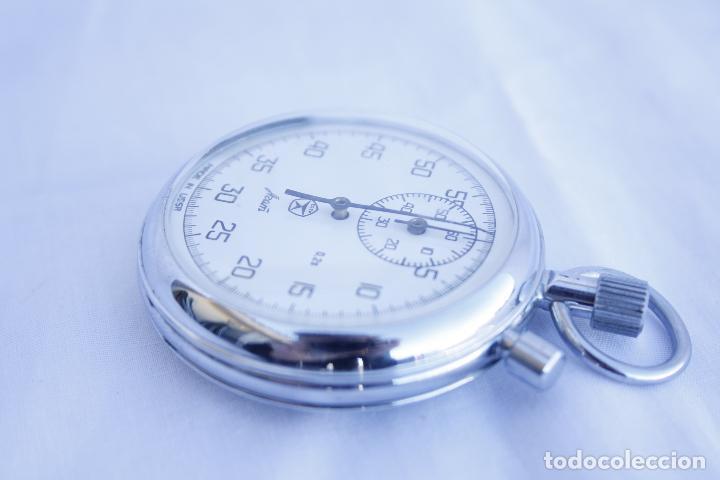 Relojes de bolsillo: Cronometro tipo Reloj de bolsillo carga manual - AGAT - Made in USSR - Foto 3 - 146645246