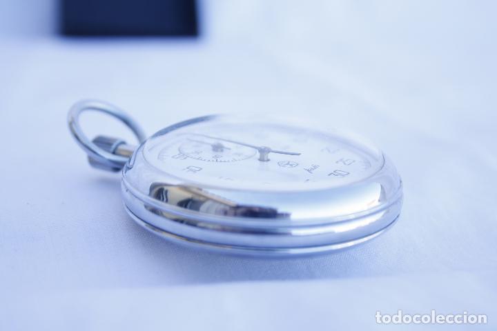 Relojes de bolsillo: Cronometro tipo Reloj de bolsillo carga manual - AGAT - Made in USSR - Foto 5 - 146645246