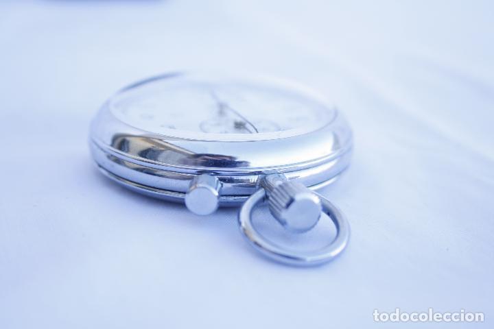 Relojes de bolsillo: Cronometro tipo Reloj de bolsillo carga manual - AGAT - Made in USSR - Foto 6 - 146645246
