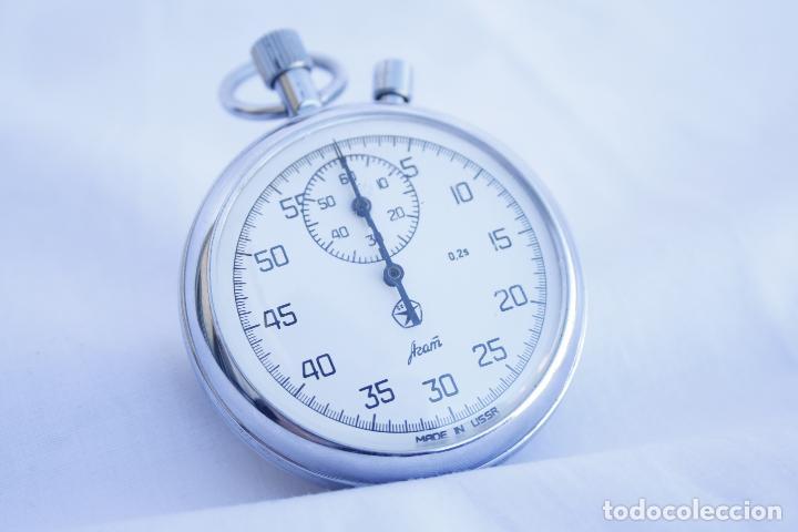 Relojes de bolsillo: Cronometro tipo Reloj de bolsillo carga manual - AGAT - Made in USSR - Foto 7 - 146645246