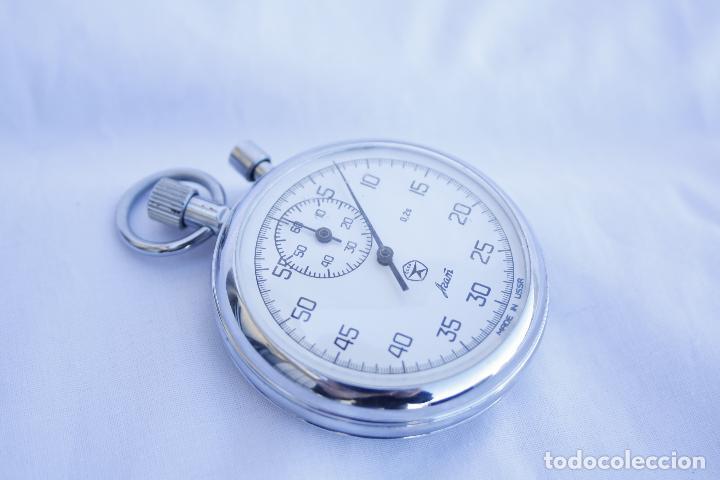 Relojes de bolsillo: Cronometro tipo Reloj de bolsillo carga manual - AGAT - Made in USSR - Foto 8 - 146645246