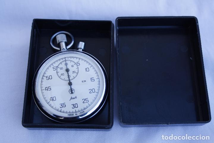 Relojes de bolsillo: Cronometro tipo Reloj de bolsillo carga manual - AGAT - Made in USSR - Foto 10 - 146645246