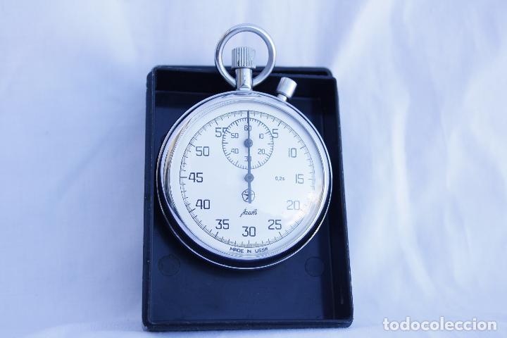 Relojes de bolsillo: Cronometro tipo Reloj de bolsillo carga manual - AGAT - Made in USSR - Foto 9 - 146645246