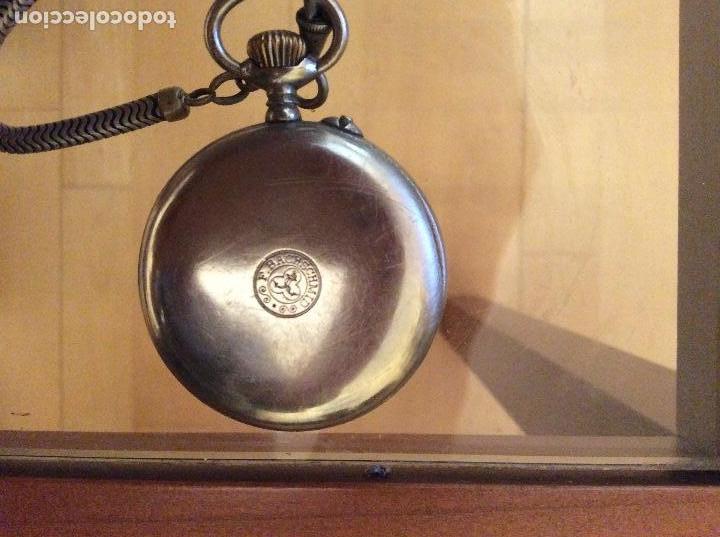 Relojes de bolsillo: Reloj de bolsillo 4,5 diámetro. 1880 F.Bachschmid suizo.tapa abierta por relojero.hay fotos del inte - Foto 3 - 146676490