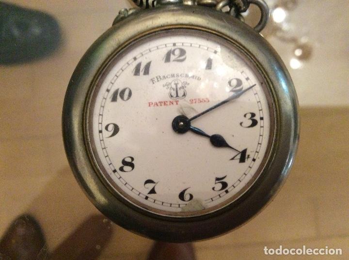 Relojes de bolsillo: Reloj de bolsillo 4,5 diámetro. 1880 F.Bachschmid suizo.tapa abierta por relojero.hay fotos del inte - Foto 5 - 146676490