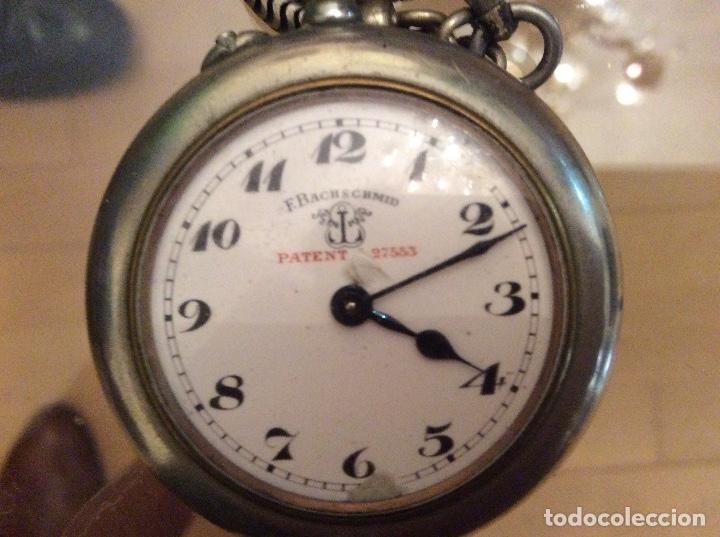 Relojes de bolsillo: Reloj de bolsillo 4,5 diámetro. 1880 F.Bachschmid suizo.tapa abierta por relojero.hay fotos del inte - Foto 6 - 146676490