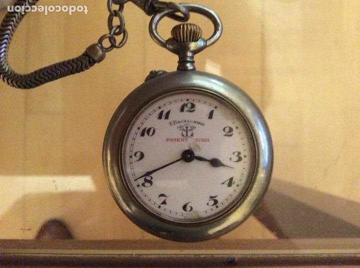 RELOJ DE BOLSILLO 4,5 DIÁMETRO. 1880 F.BACHSCHMID SUIZO.TAPA ABIERTA POR RELOJERO.HAY FOTOS DEL INTE (Relojes - Bolsillo Carga Manual)