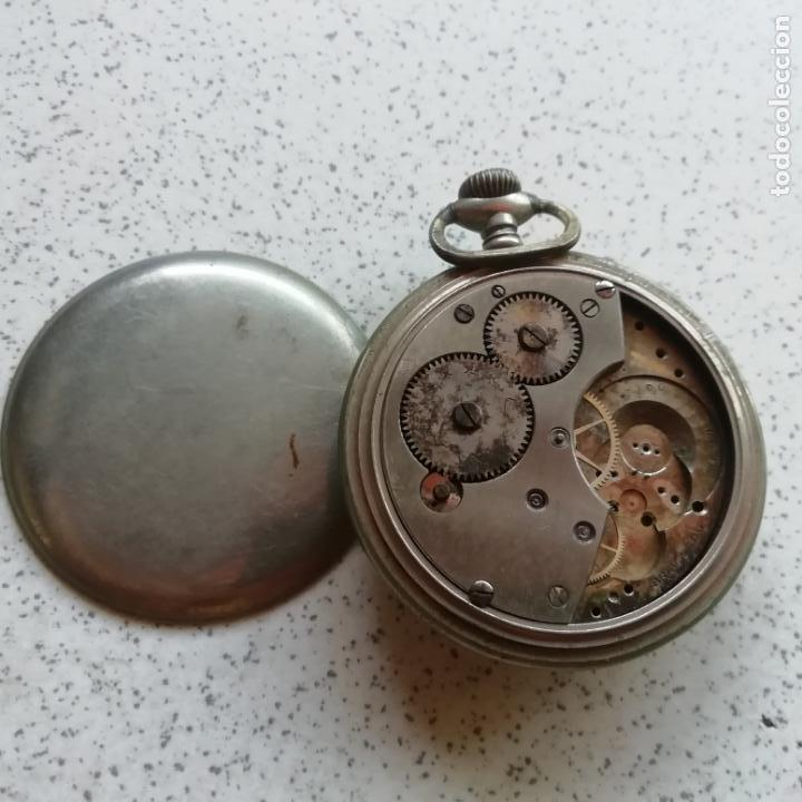 Relojes de bolsillo: Antiguo reloj de bolsilo. No funciona, para piezas - Foto 3 - 146730390