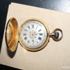 Relojes de bolsillo: RELOJ DE BOLSILLO - ANCRE LIGNE DROITE - 15 RUBIS 18K - NUMERADO - NO FUNCIONAL - 1900. Lote 146770982