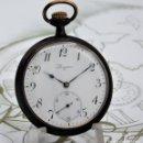 Relojes de bolsillo: LONGINES-RELOJ DE BOLSILLO-2 TAPAS-CIRCA 1908-FUNCIONANDO. Lote 146936890