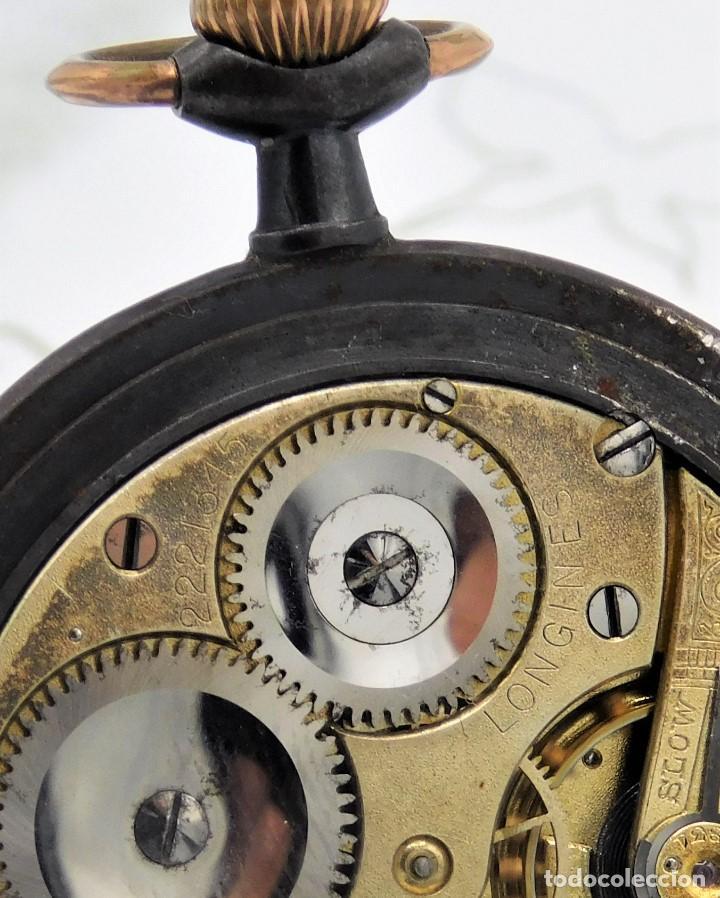 Relojes de bolsillo: LONGINES-RELOJ DE BOLSILLO-2 TAPAS-CIRCA 1908-FUNCIONANDO - Foto 3 - 146936890