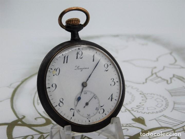 Relojes de bolsillo: LONGINES-RELOJ DE BOLSILLO-2 TAPAS-CIRCA 1908-FUNCIONANDO - Foto 13 - 146936890