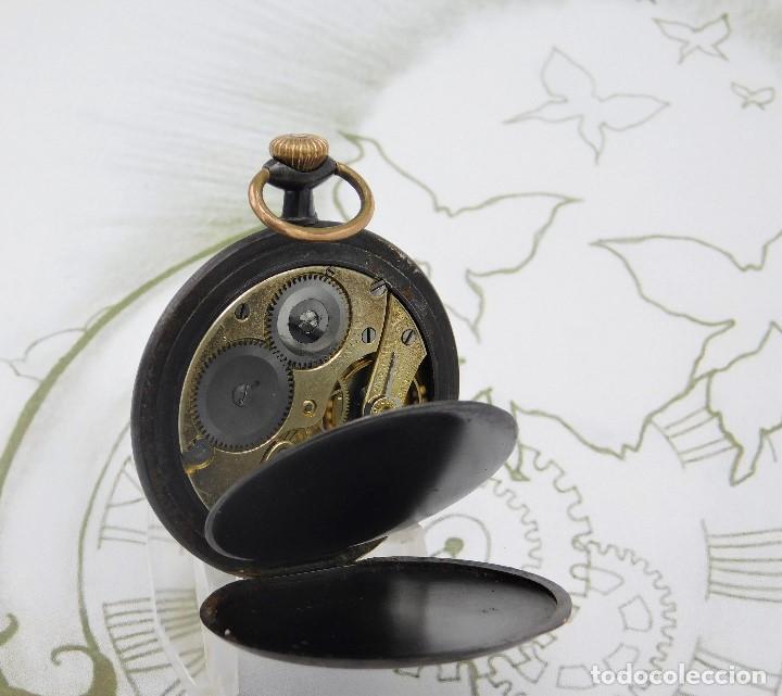 Relojes de bolsillo: LONGINES-RELOJ DE BOLSILLO-2 TAPAS-CIRCA 1908-FUNCIONANDO - Foto 2 - 146936890
