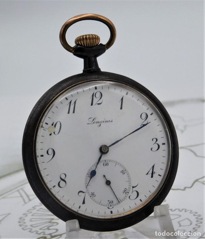 Relojes de bolsillo: LONGINES-RELOJ DE BOLSILLO-2 TAPAS-CIRCA 1908-FUNCIONANDO - Foto 10 - 146936890