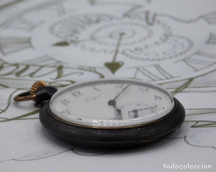 Relojes de bolsillo: LONGINES-RELOJ DE BOLSILLO-2 TAPAS-CIRCA 1908-FUNCIONANDO - Foto 12 - 146936890