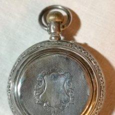 Relojes de bolsillo: RELOJ SABONETA LACROIX. PLATA Y PORCELANA. NO SABEMOS SI FUNCIONA. SUIZA. PRINC. S. XX. Lote 147189118