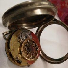 Relojes de bolsillo: ANTIGUO RELOJ DE BOLSILLO CAJA DE PLATA PARA RESTAURAR. Lote 147333681