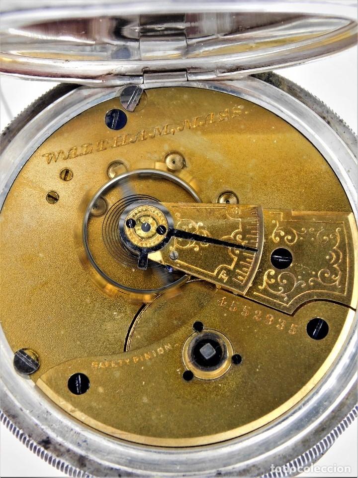 Relojes de bolsillo: WALTHAM-RELOJ BOLSILLO-DE PLATA-CIRCA 1890-FUNCIONANDO-3 TAPAS - Foto 17 - 142611454