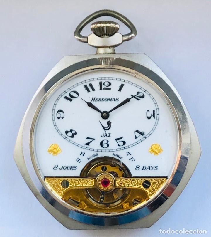 RELOJ HEBDOMAS , MAGNIFICO (Relojes - Bolsillo Carga Manual)