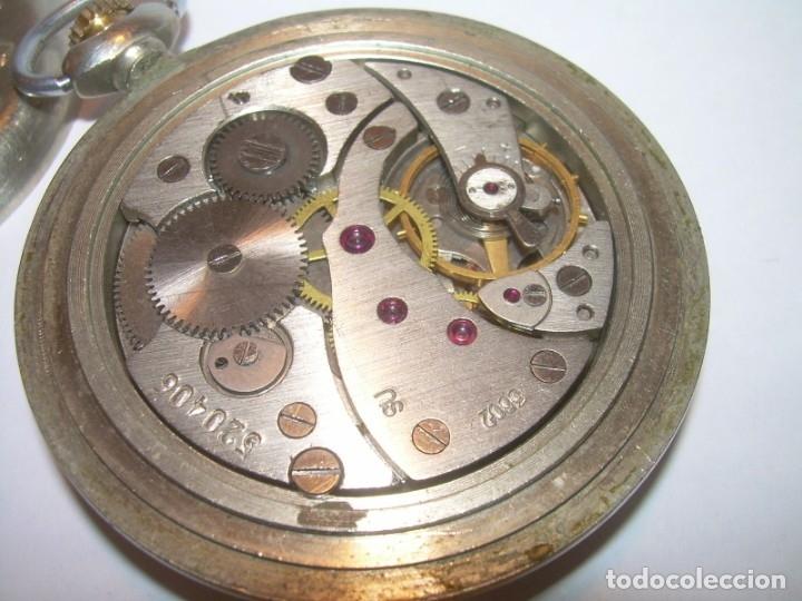 Relojes de bolsillo: ANTIGUO RELOJ DE BOLSILLO CARGA MANUAL.....CCCP. RUSIA. - Foto 3 - 147998966