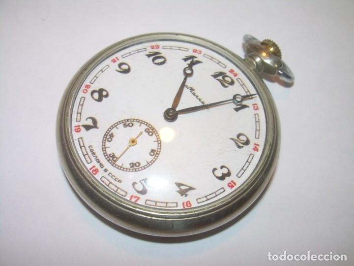 Relojes de bolsillo: ANTIGUO RELOJ DE BOLSILLO CARGA MANUAL.....CCCP. RUSIA. - Foto 5 - 147998966
