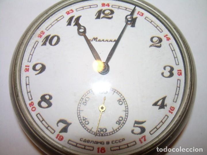 Relojes de bolsillo: ANTIGUO RELOJ DE BOLSILLO CARGA MANUAL.....CCCP. RUSIA. - Foto 7 - 147998966