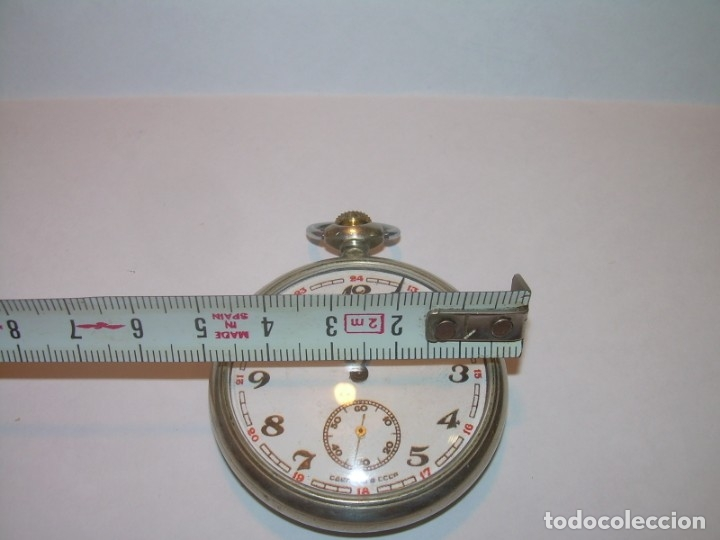 Relojes de bolsillo: ANTIGUO RELOJ DE BOLSILLO CARGA MANUAL.....CCCP. RUSIA. - Foto 9 - 147998966
