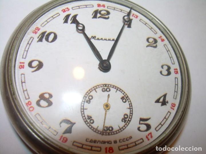 Relojes de bolsillo: ANTIGUO RELOJ DE BOLSILLO CARGA MANUAL.....CCCP. RUSIA. - Foto 8 - 147998966