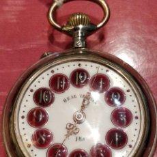 Relojes de bolsillo: RELOJ DE BOLSILLO REAL IBERIA 5.5 CM DE DIAMETRO . Lote 148278410