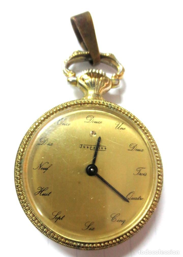 PRECIOSO RELOJ ANTIGUO PARA SEÑORA MARCA DESCARTES FUNCIONA (Relojes - Bolsillo Carga Manual)