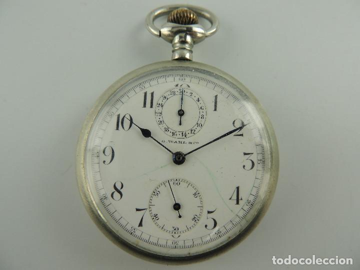 G.WAHL & CO. RELOJ DE BOLSILLO CRONOMETRO PLATA 800 (Relojes - Bolsillo Carga Manual)