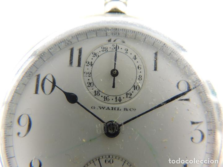 Relojes de bolsillo: G.Wahl & Co. reloj de Bolsillo cronometro plata 800 - Foto 2 - 148550390