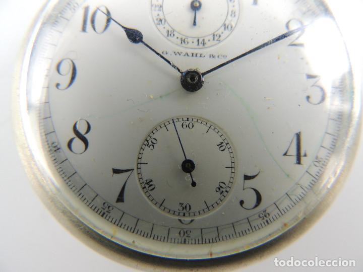 Relojes de bolsillo: G.Wahl & Co. reloj de Bolsillo cronometro plata 800 - Foto 3 - 148550390