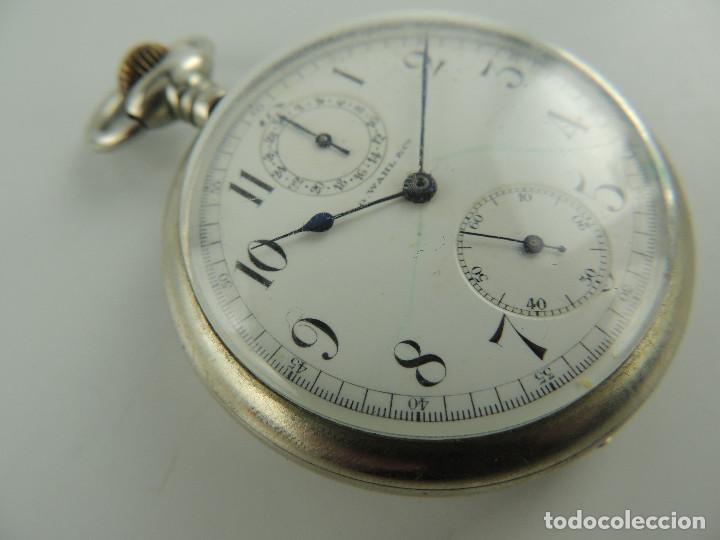 Relojes de bolsillo: G.Wahl & Co. reloj de Bolsillo cronometro plata 800 - Foto 4 - 148550390