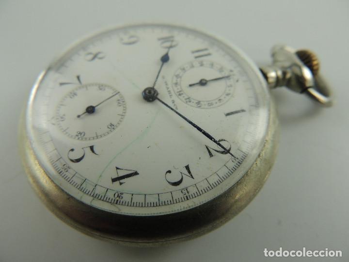Relojes de bolsillo: G.Wahl & Co. reloj de Bolsillo cronometro plata 800 - Foto 5 - 148550390