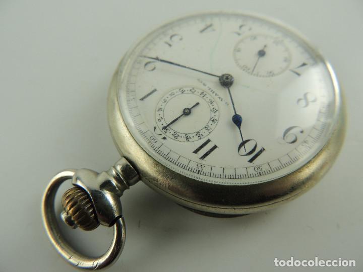 Relojes de bolsillo: G.Wahl & Co. reloj de Bolsillo cronometro plata 800 - Foto 7 - 148550390