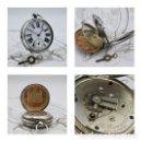Relojes de bolsillo: RELOJ DE BOLSILLO-THE RIVERSDALE-DE PLATA-CIRCA 1897-CON LLAVE DE LA EPOCA-FUNCIONANDO. Lote 148580366