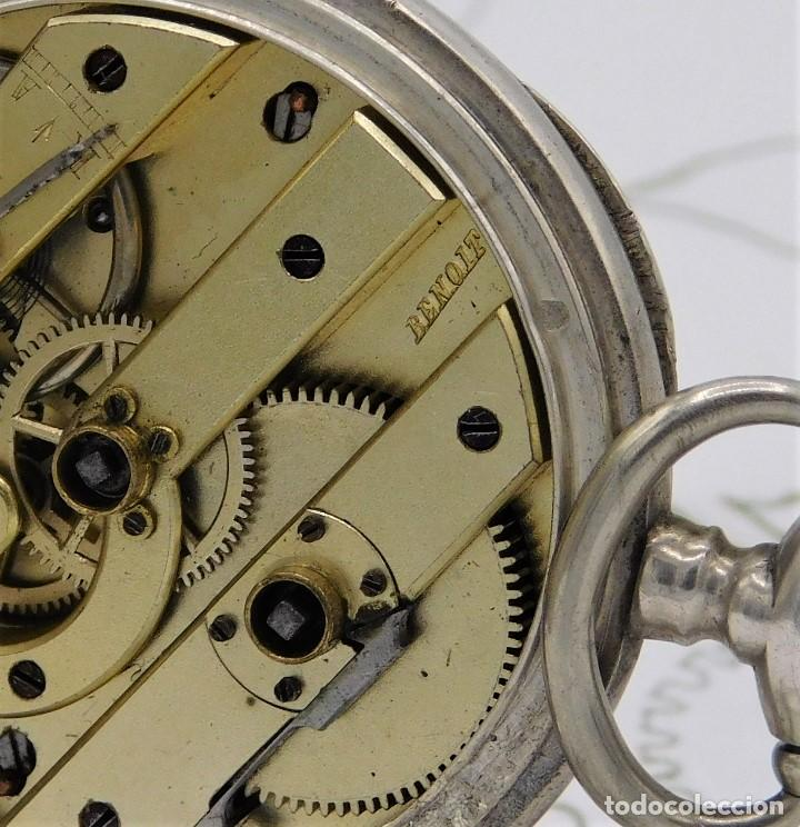 Relojes de bolsillo: RELOJ DE BOLSILLO BENOIT SUIZO-DE PLATA-CON PRECIOSO GRABADO-3 TAPAS-CIRCA 1890-FUNCIONANDO - Foto 8 - 148587174