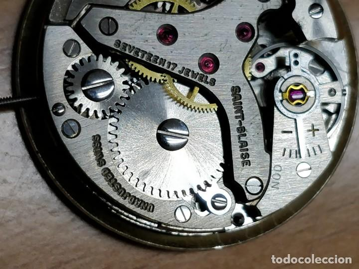 Relojes de bolsillo: Reloj de bolsillo despertador Saint Blaise modelo Key Watch con despertador alarma 17 rubies - Foto 9 - 149095942