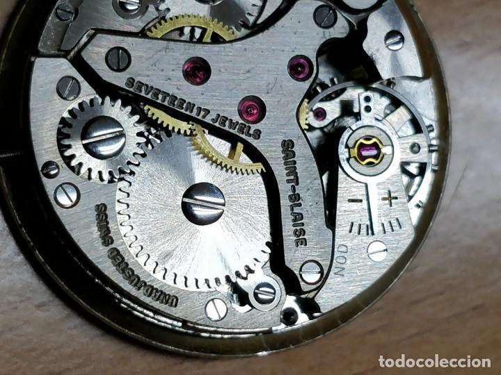 Relojes de bolsillo: Reloj de bolsillo despertador Saint Blaise modelo Key Watch con despertador alarma 17 rubies - Foto 10 - 149095942