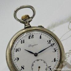 Relojes de bolsillo: LONGINES EFCº-FANTÁSTICO RELOJ DE BOLSILLO REMONTOIRE-2 TAPAS-CIRCA 1893-FUNCIONANDO. Lote 149386562